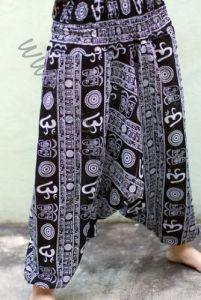Чёрные штаны алладины Символ ОМ