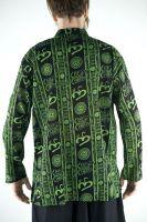 Чёрная легкая мужская рубашка из Индии, купить в интернет магазине