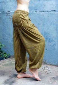 Индийские шаровары оливкового цвета (есть другие цвета!)