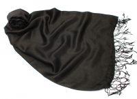 Чёрный шёлковый шарф палантин (шелк + шерсть), 1450 руб.