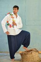 Однотонные мужские штаны алладины, Индия, хлопок.