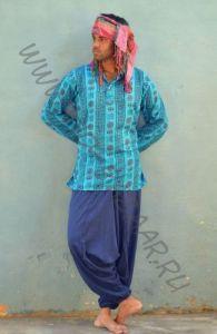 Мужские индийские рубашки с омчиками (разные цвета)