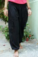 Купить чёрные женские индийские штаны шаровары
