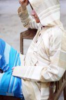 Мужская кофта (толстовка) из джута, с капюшоном