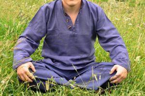 BIG - Синяя мужская рубашка из органического хлопка (Москва)