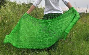 Салатовый шёлковый шарф