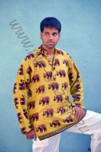 Индийские мужские рубашки со слонами (Москва)