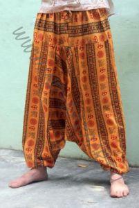Разные цвета! Штаны алладины с символом ОМ (Москва)
