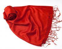 Купить в Москве красный шелковый шарф палантин. Индийский интернет магазин