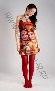 Индийское платье с божествами Шивой и Парвати