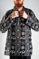 Мужская черная индийская рубашка с символом ОМ