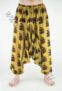 Разные цвета! Мужские индийские штаны алладины со слонами (Москва)